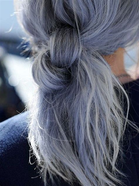 how to bring out the grey in hair in a messy braid could you rock granny hair these grey