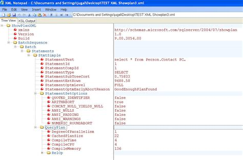 xml layout notepad xml notepad with ssms sqlservercentral