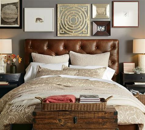 pottery barn leather headboard 25 best ideas about leather bed frame on pinterest
