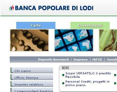 by web banco popolare di lodi carta bancomat da popolare di lodi