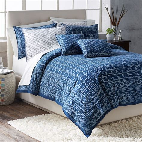 indigo bedding hand block printed indigo bedding national geographic store
