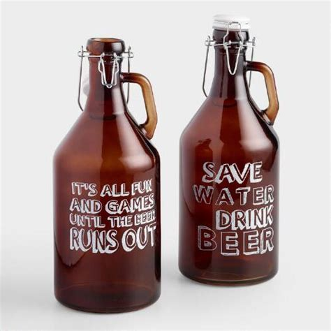 swing top beer amber glass beer growlers with swing top lids set of 3