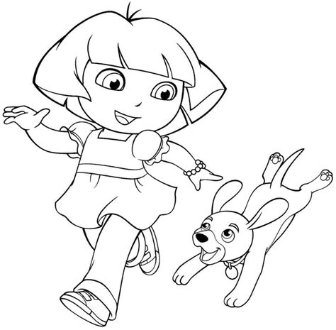 coloring pages of dora and friends 25 wonderful dora the explorer coloring pages