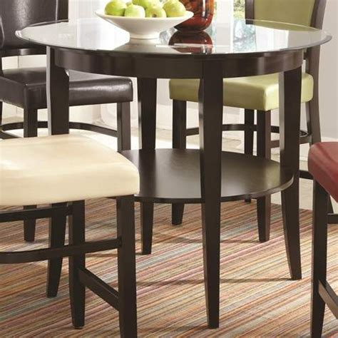 glass top pub table  shelf quality furniture