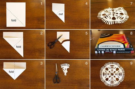 How To Make Hanging Paper Snowflakes - made by joel 187 hanging paper snowflakes craft