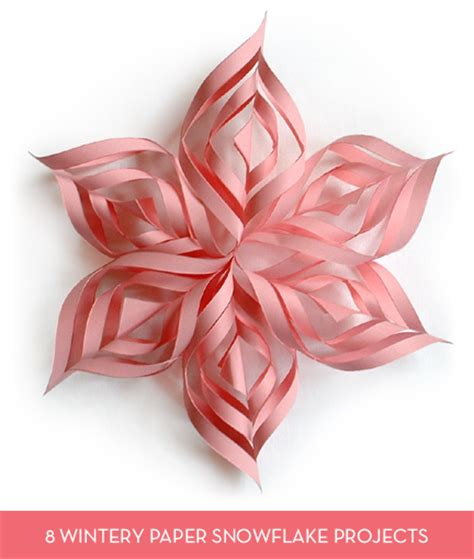 How To Make Pretty Paper Snowflakes - roundup 8 easy paper snowflake projects and templates