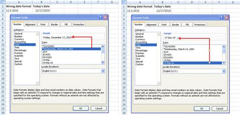 format date dmy php excel 2010 unable to change date format how to change