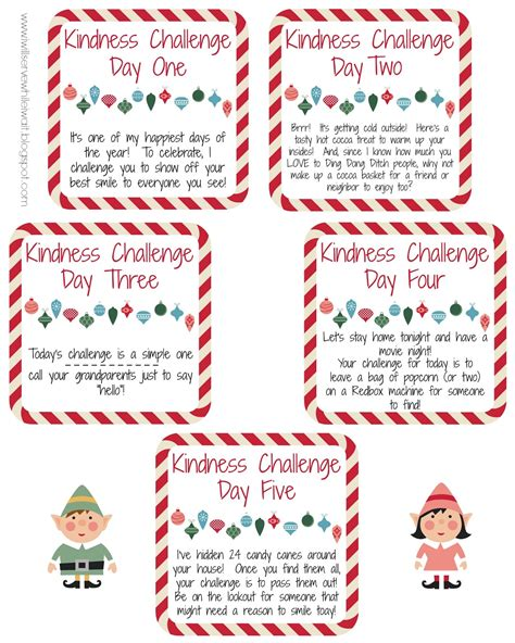 printable kindness elf ideas kindness elf printable merry christmas happy new year arts