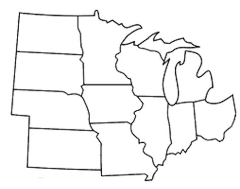 blank midwest states map pin blank midwest states map on
