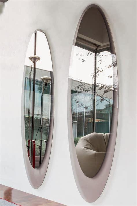 cornice in vetro olmi 7507 specchio ellittico tonin casa con cornice in