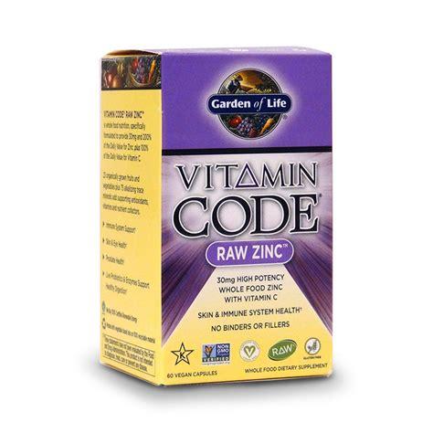 r garden supplements garden of vitamin code zinc whole food mineral