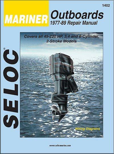 marine repair shop laurie mo mariner outboard repair manual 1977 1989 3 4 6