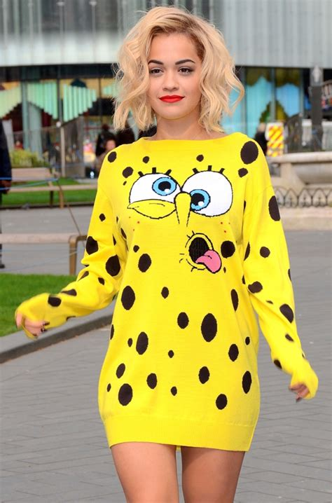Dress Syar I Hello You By Miulan spongebob fashion slim fashion