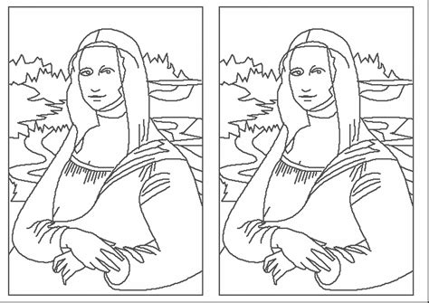 Download Coloring Pages Mona Lisa Coloring Page Mona Mona The Vire Coloring Pages