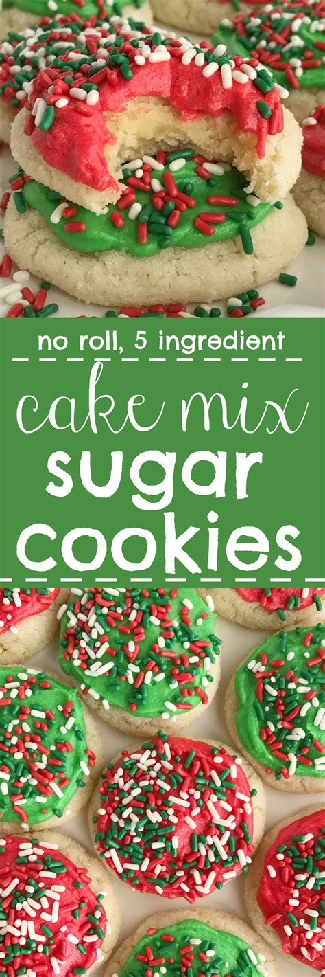 no roll 5 ingredient cake mix sugar cookies together