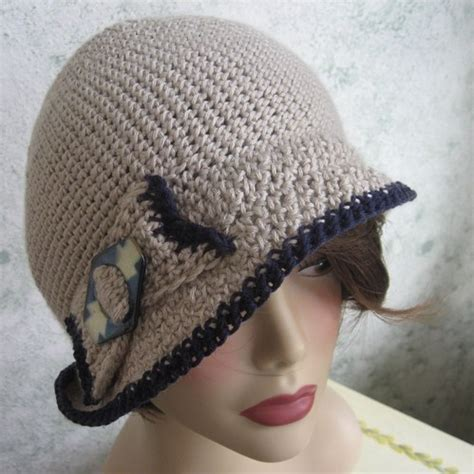 crochet pattern womens hat brimmed crocheted hat with bow