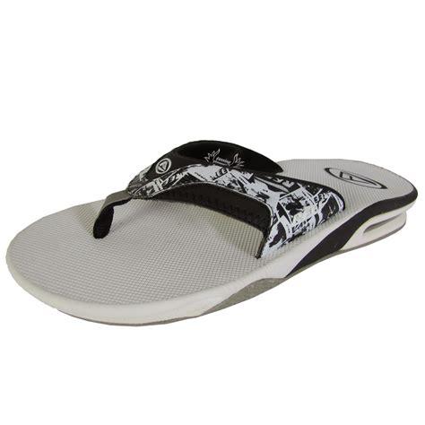 reef fanning flip flops mens reef mens fanning flip flop sandal shoes ebay