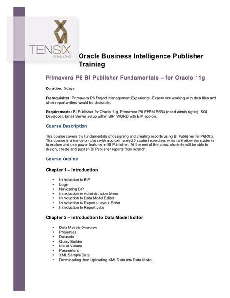 tutorial oracle bi publisher oracle business intelligence publisher training