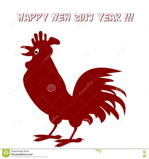 new year sign rooster vector illustration of rooster new year concept