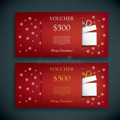 Gift Card Text Template by Gift Card Voucher Template With Stock Vector