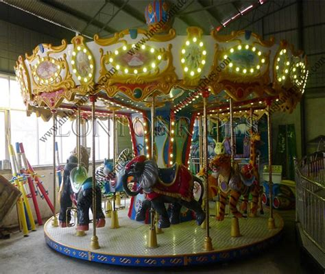 outdoor carousel decoration outdoor playground animal merry go kiddie ride mini