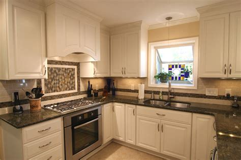 white kitchen cabinets with countertops brown granite countertops with white cabinets