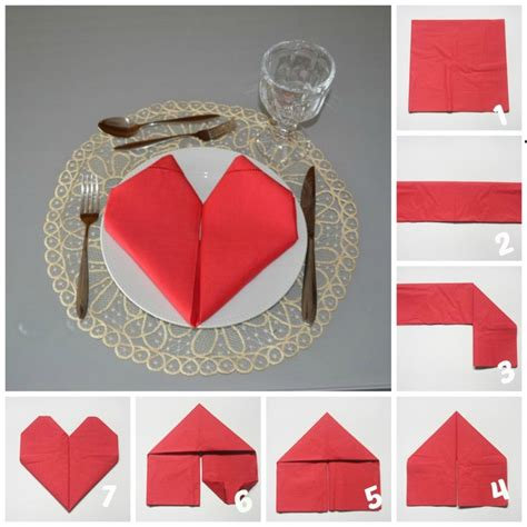 Folding A Paper Napkin - 10 table decoration ideas for valentine s day to impress