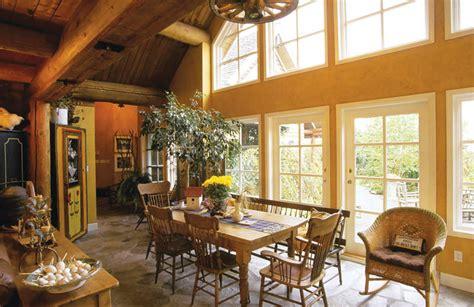 using drywall in log homes