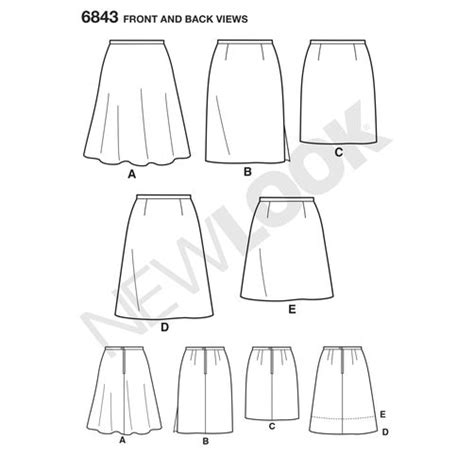 pattern review new look 6843 pattern for misses skirts simplicity