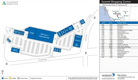 summit mall map summit shopping center in kamloops columbia 23