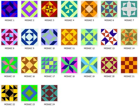 pattern in name list of quilt block names arranged alphabetically