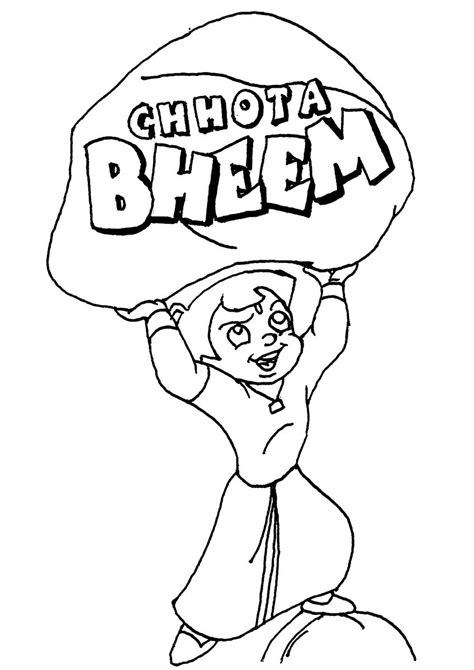 free coloring pages of chhota bheem colour pages