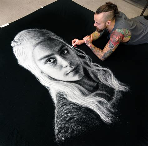 how is table salt made someone made a daenerys targaryen portrait from table salt