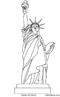 united states land marks coloring page and facts