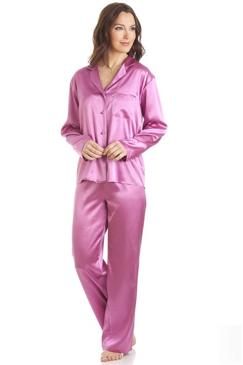 Piyama Pajamas Pink Pink Satin Length Pyjama Set