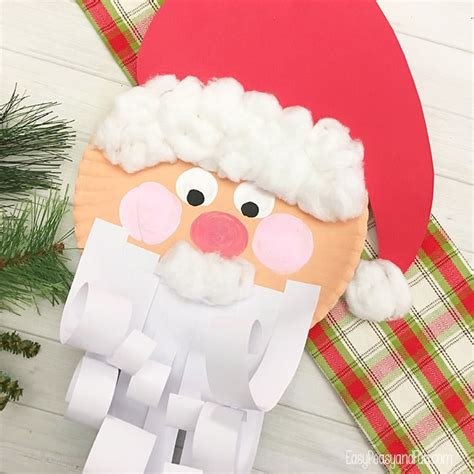 jolly santa paper plate craft easy peasy and