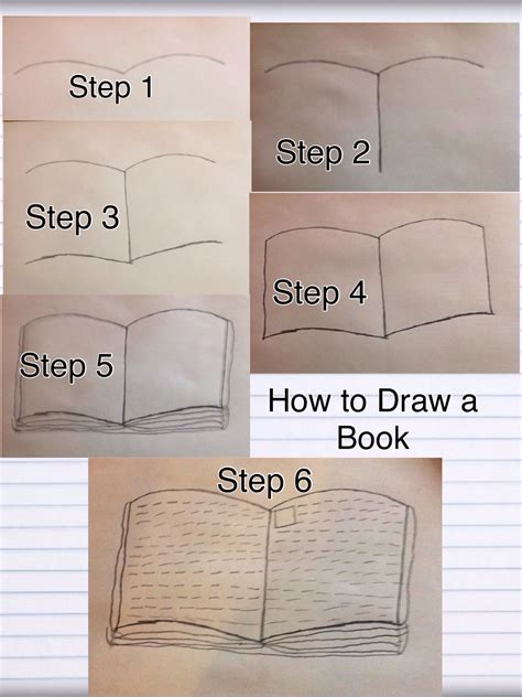 easy picture books how to draw an open book in 6 easy steps