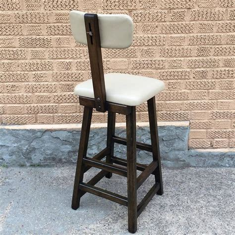 Maple Bar Stools With Leather Seats by Vintage Arts Crafts Maple Leather Barstool Cityfoundry