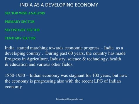 Mba In Environmental Science In India by Economic Environment Ppt On Indian Business Enviroanment Mba