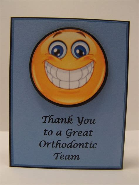 Thank You Orthodontist Card