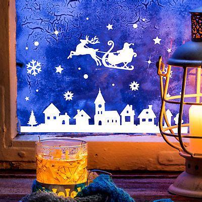 Fensterdeko Weihnachten Winter by Fensterbild Weihnachtsmann Rentier Weihnachten Fensterdeko