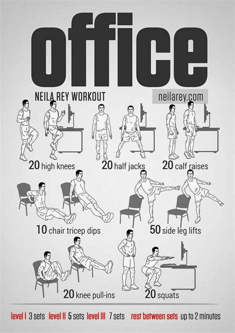 Home Gym Office Workout By Neila Rey Office Desk Workout