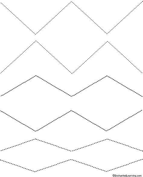 tracing cutting templates enchantedlearning zigzags tracing cutting template 2 enchantedlearning