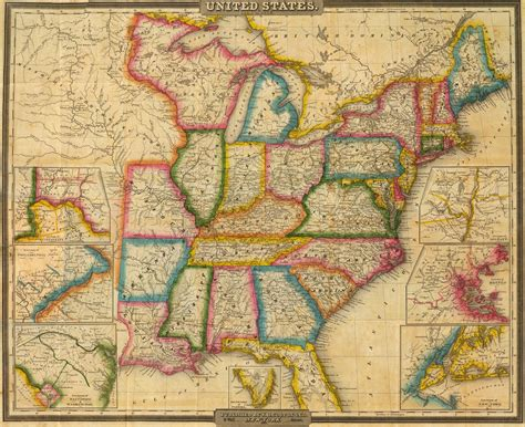 expansion of united states to 1833 map 1833 map of the united states