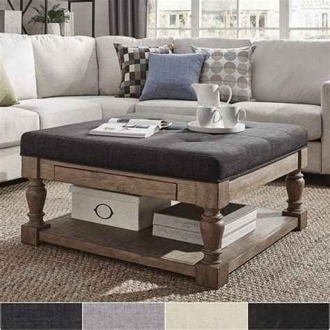 using ottoman as coffee table best 20 ottoman coffee tables ideas on pinterest tufted