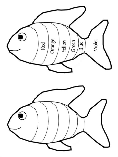 rainbow fish colouring template 8 rainbow templates free pdf documents free