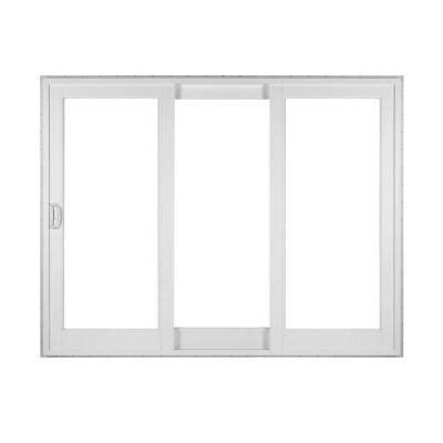 3 Panel Sliding Glass Doors Simonton White 3 Panel Rail Sliding Patio Door With Prosolar Low E Glass Custom Interior