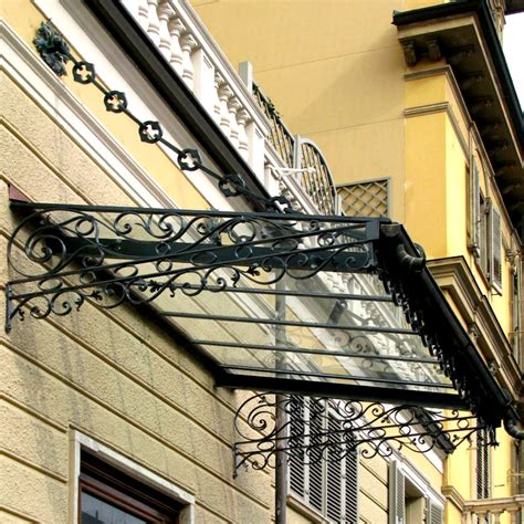 tettoie in ferro battuto per esterni pensiline in ferro battuto grandacasa