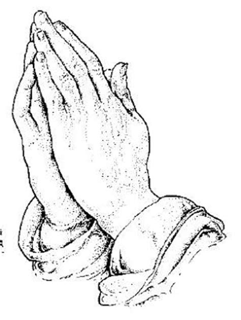 coloring page of praying hands praying hands with cross and rosary pictures free