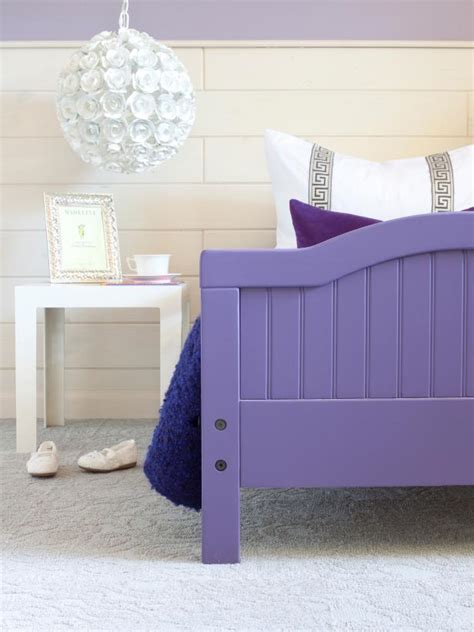 purple toddler bed how to give a basic toddler bed a designer look hgtv